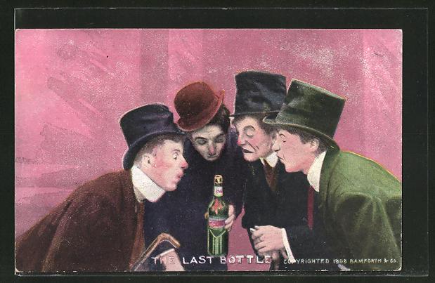 AK The last Bottle, Trinker mit Whiskyflasche