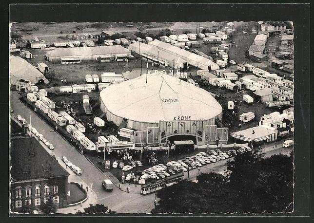 AK Bremen, Circus Krone, Luftaufnahme