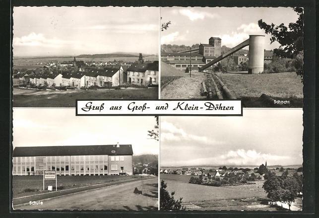 AK Gross Döhren, Eisenerz Bergbau-Schacht, Schule, Klein Döhren, Gross Döhren