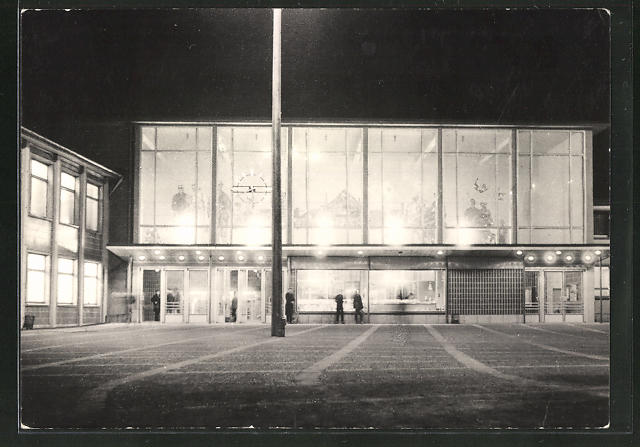AK Sangerhausen, Bahnhof bei Nacht