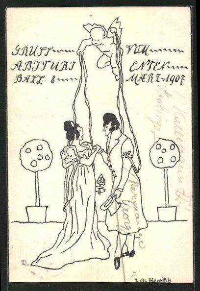 AK Darmstadt, Abiturienten Ball 1907, Absolvia
