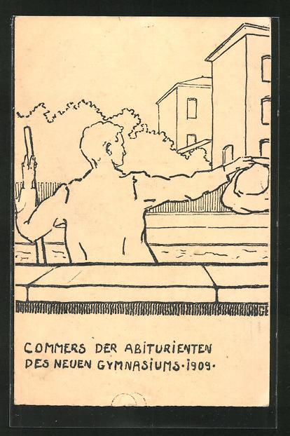 AK Darmstadt, Commers der Abiturienten des neuen Gymnasiums 1909, Absolvia