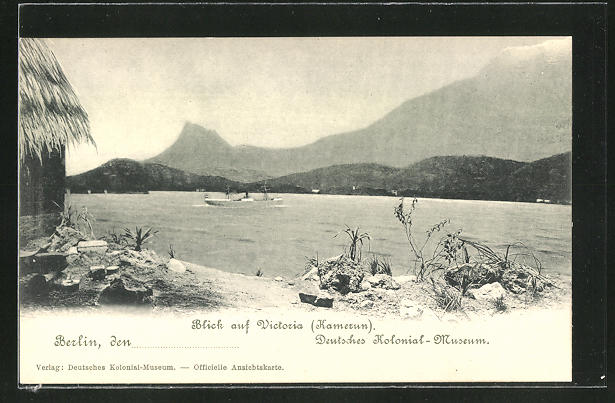 AK Victoria / Kamerun, Uferblick, Deutsches Kolonial-Museum