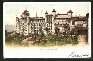 AK Caux, Ansicht vom Palace-Hotel