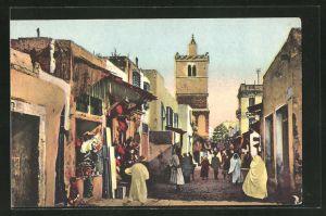 AK Tunis, La rue des Teinturiers