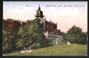AK Zobtenberg, Blick zur Bergkirche