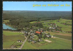 AK Holzöster-Franking, Ortspanorama mit See aus der Luft gesehen