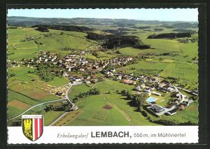 AK Lembach im Mühlkreis, Ortsansicht aus der Vogelschau