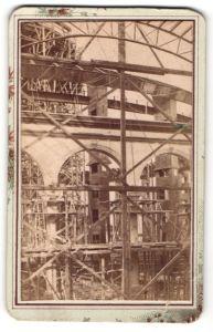 Fotografie Fotograf unbekannt, Ansicht Wien, Weltausstellung 1873, Rotunde Baustelle, Eingang vom Hauptportal