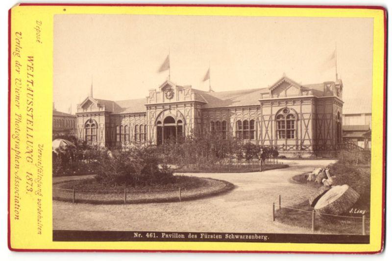 Fotografie Photographen Association, Wien, Ansicht Wien, Weltausstellung 1873, Pavillon des Fürsten Schwarzenberg