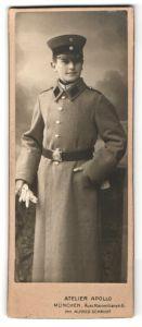 Fotografie Atelier Apollo, München, Portrait junger Soldat in Uniform, Kadett