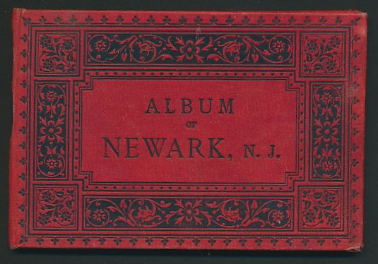Leporello-Album Newark, mit 12 Lithographie-Ansichten, Panorama, Broad Street, Court House, Water Works, Railroad u.a.