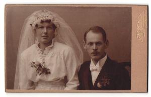 Fotografie H. Cederin, Katrineholm, Portrait Braut und Bräutigam, Hochzeit