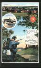 AK Neuburg, K. B. 15. Infanterie-Regiment, Kaserne I., Schlosskaserne