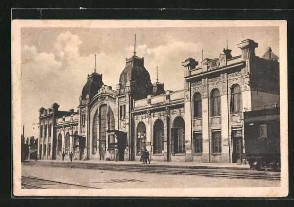 AK Kowel, Vorderansicht vom Hauptbahnhof