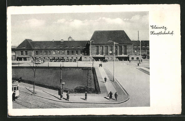 AK Gleiwitz, Blick auf den Hauptbahnhof