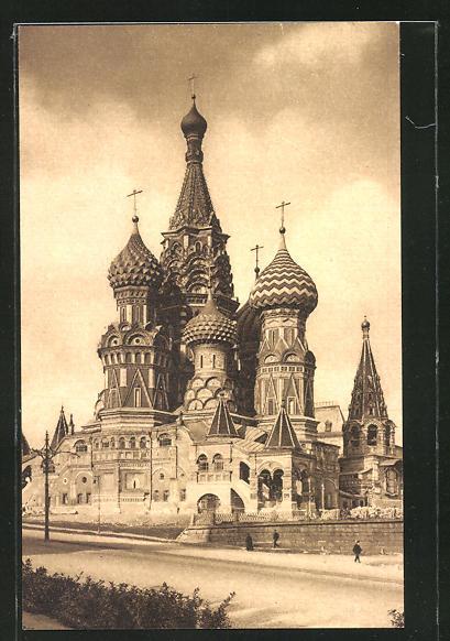 AK Moskau, La Cathédrale de Basile-Le-Saint