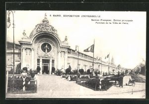 AK Gand, Exposition Universelle, Section Francaise, Entree priincipale Pavillon de la Ville de Paris