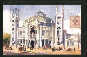 Künstler-AK Dell' Esposizionale di Milano 1906, Salone dei Concerti Alparco