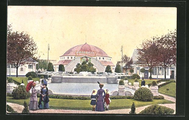 AK München, Ausstellung 1910, Blick auf die Reitbahn
