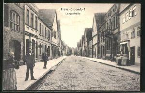 AK Hess.-Oldendorf, Langestrasse mit Geschäften