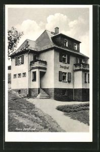 AK Mühlhausen / Bad Elster, Ansicht vom Hotel Haus Bergfried