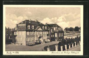 AK Barby a. Elbe, Blick auf das Herrenhaus des Barbyer Rittergutes