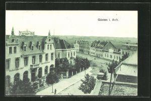 AK Güsten i. Anh., Ortsansicht mit Hotel Thüringer Hof