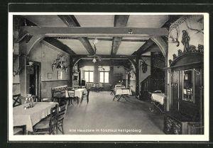 AK Vilsen, Alte Hausdiele im Forsthaus Heiligenberg