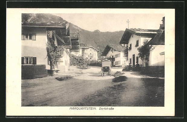 AK Marquartstein, Blick in die Dorfstrasse