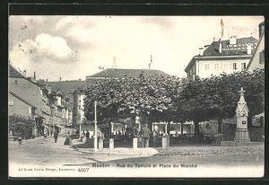AK Moudon, Rue du Temple et Place du Marché