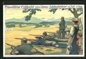 AK Aarau, Eidg. Schützenfest 1924, Jahrhundertfeier