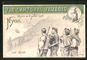AK Nyon, Tir Cantonal Vaudois 1906, Schützenverein