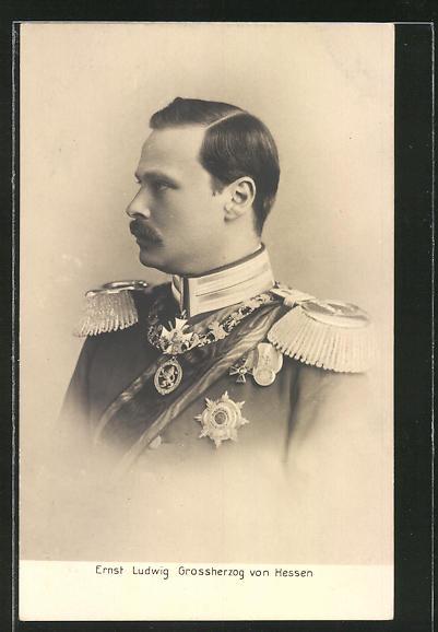 AK Portrait Ernst Ludwig Grossherzog von Hessen in Uniform