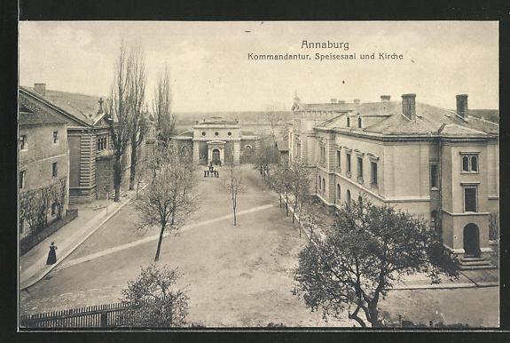 AK Annaburg, Kommandantur, Speisesaal & Kirche