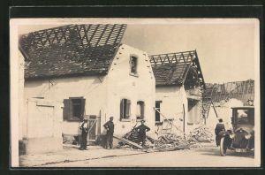 AK Oppau, Dampfkesselexplosion 1921, zerstörte Häuser