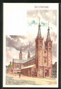 Künstler-AK Karl Mutter: Würzburg, Blick zum Dom