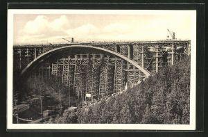 AK Hermsdorf / Thür., Grösste Eisenbetonbogenbrücke
