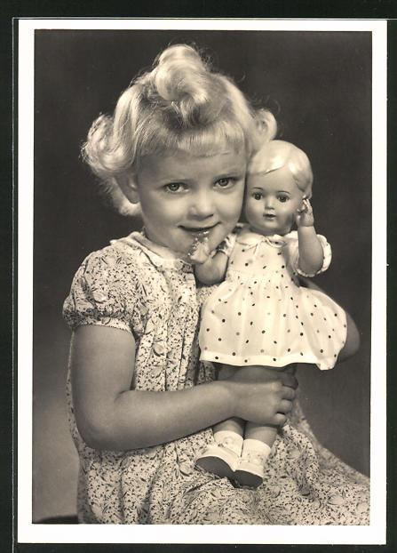 Ak Weißen 1910 Kleid Mit Puppenwagen Im Mädchen Ansichtskarten Seiden W2EHIYD9