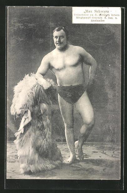 AK Ringer Max Schwarz in Pose