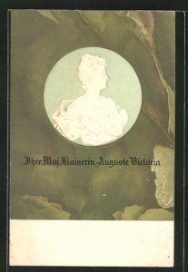 Präge-AK Portrait Kaiserin Auguste Victoria Königin von Preussen
