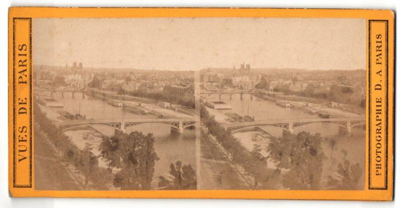 Stereo-Fotografie Phot. D, Paris, Ansicht Paris, Panorama der östlichen Stadt