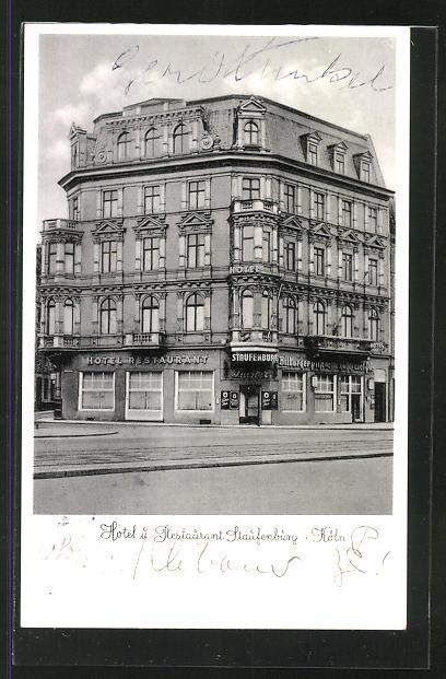 Ak Koln Neustadt Hotel Restaurant Staufenburg In Der Strasse
