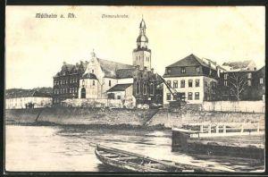 AK Köln-Mülheim, Teilansicht mit Clemenskirche