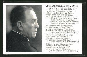 AK Köln, Portrait Komponist Willi Ostermann, letztes Lied