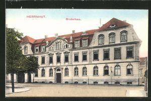AK Herrnhut i. Sa., Ansicht vom Brüderhaus