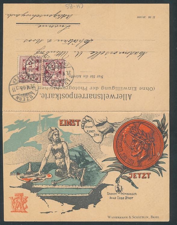 Klapp-AK Böcklin-Gedicht,