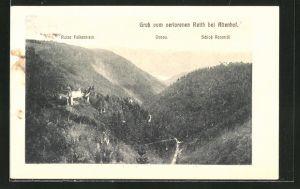 AK Altenhof, Ortspanorama mit Ruine Falkenstein, Donau und Schloss Ranaridi