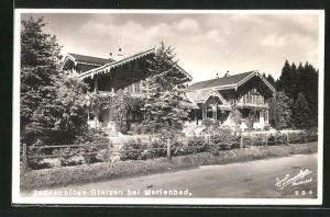 AK Marienbad, Jagdschloss Glatzen