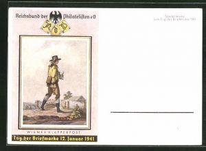 AK Tag der Briefmarke 1941, Wiener Klapperpost